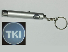 Mini torch with logo projection