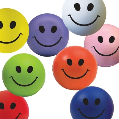 Colour variation 70mm Smiley Stress balls