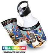 full printable Outdoor Traveller Canteen Bottle with Sip Lid