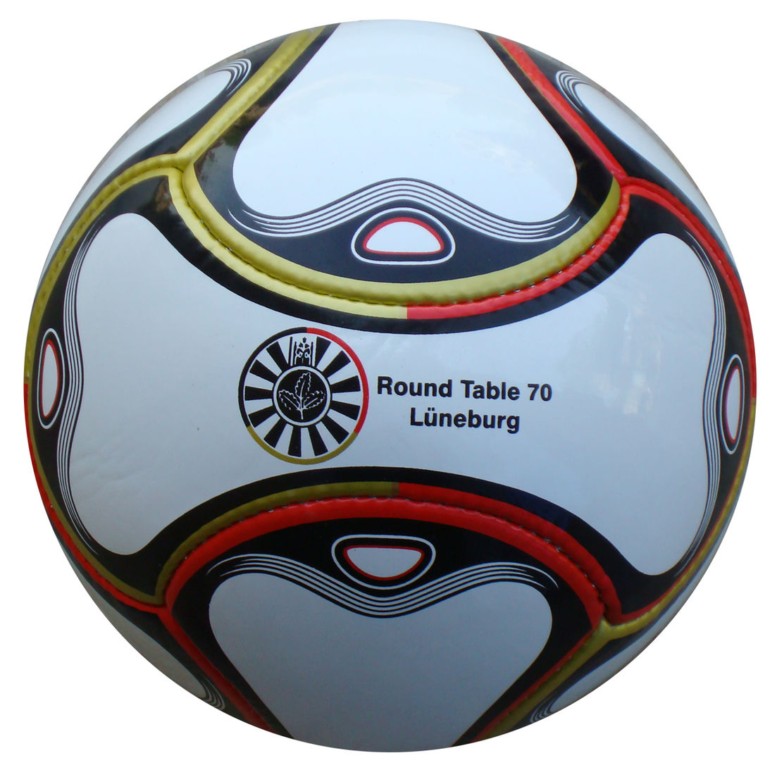 6 Panel Fußball Round Table