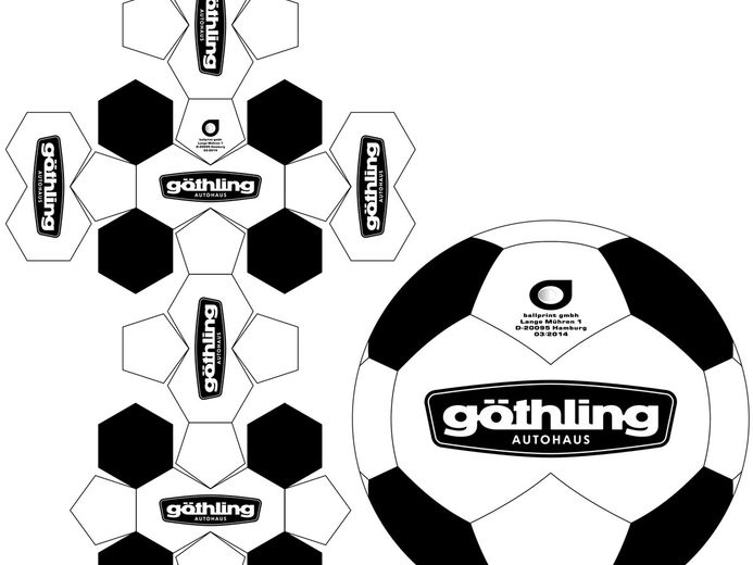 Classic Designs : 26, 28, 30 + 32 Panel - Soccerball Templates - Custom made promotional balls