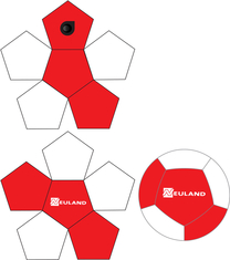 12 panel layout neoprene ball size 5, 4 & mini